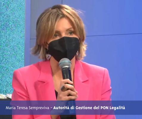 L'intervento di Maria Teresa Sempreviva - Autorità di Gestione del PON Legalità