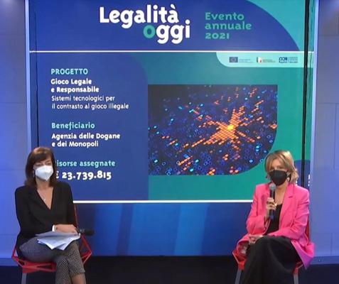 Un altro momento dell'intervento di Maria Teresa Sempreviva - Autorità di Gestione del PON Legalità