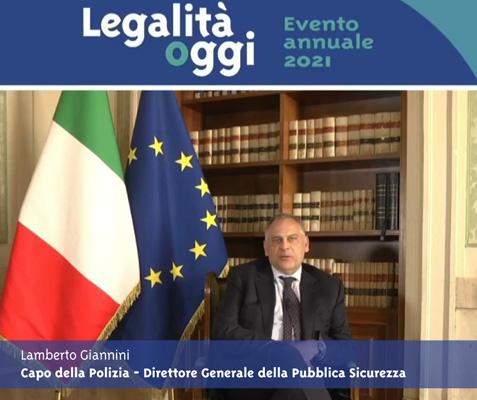 L'intervento del Capo della Polizia- Direttore Generale della Pubblica Sicurezza Lamberto Giannini